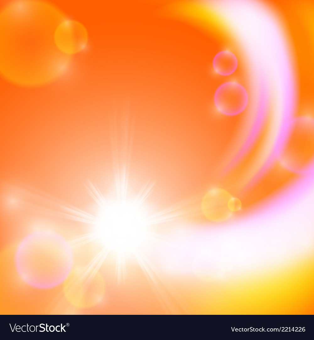 Abstract background with sun vector