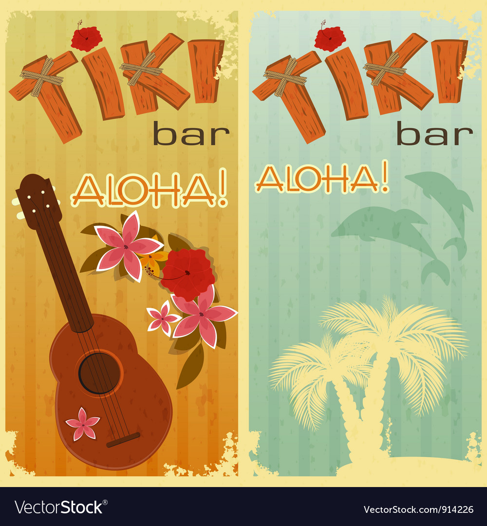 Hawaiian party vector