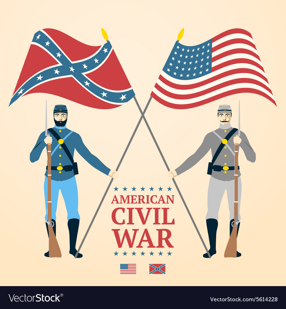 American civil war  southern and vector