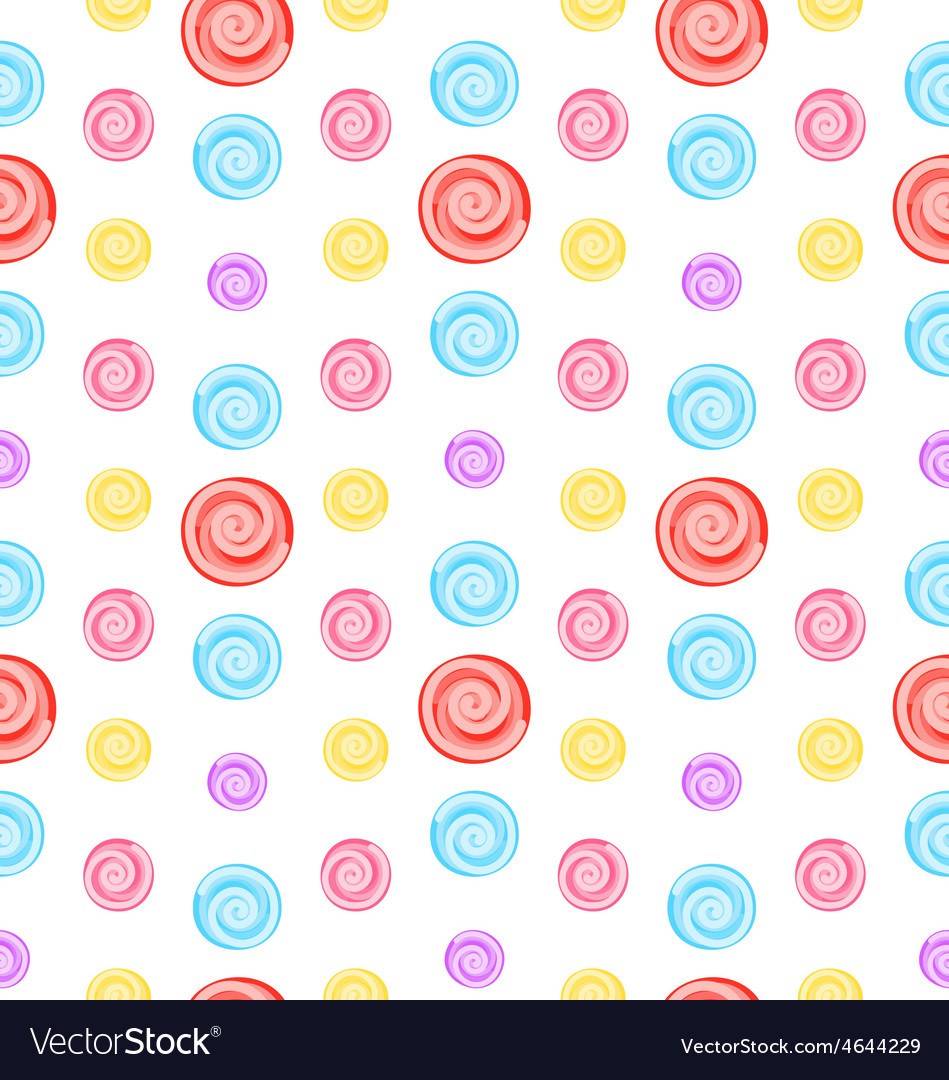 Seamless pattern with colored lollipops vector