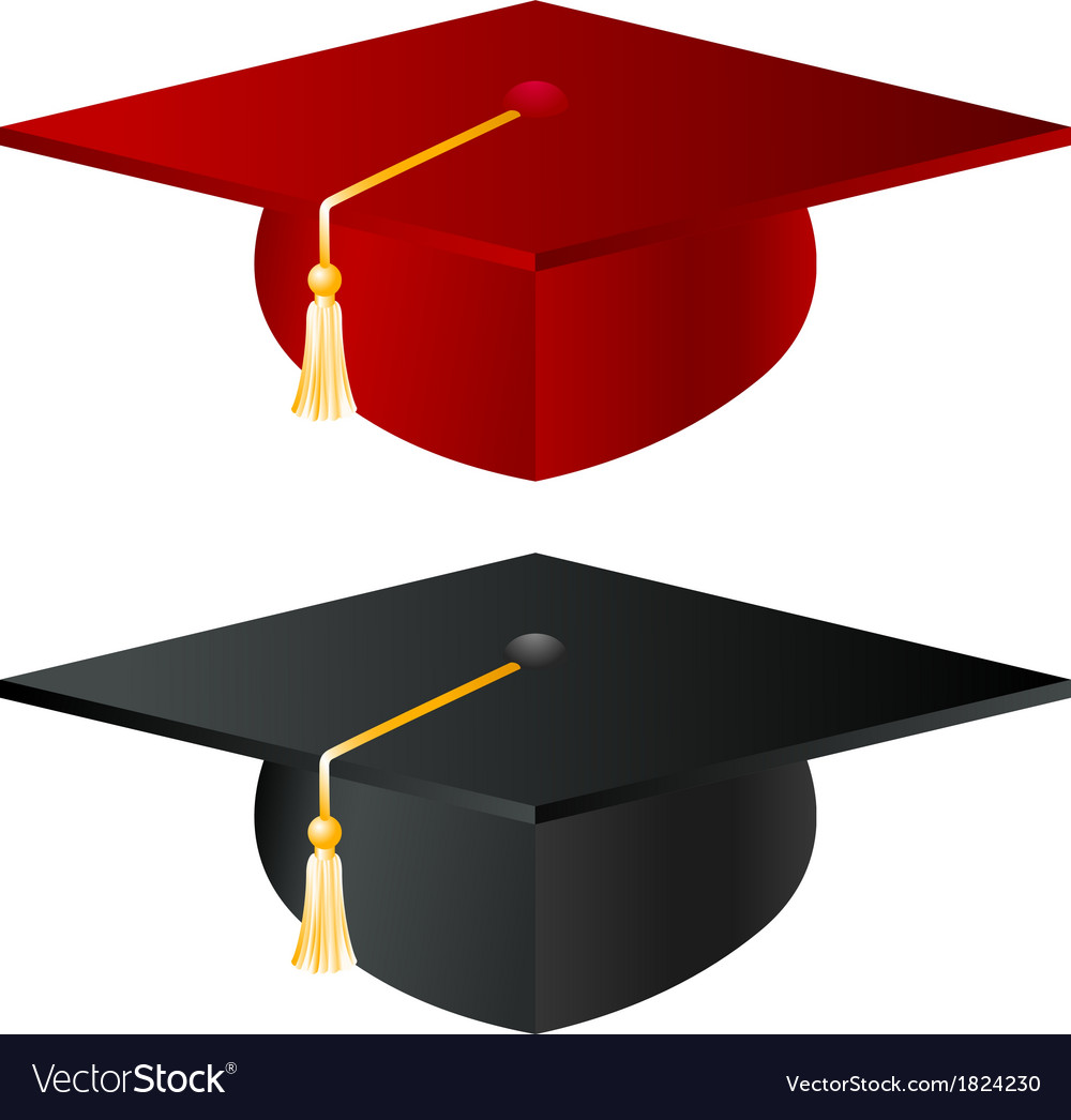 Graduation school hat vector