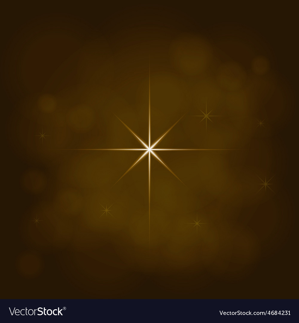 Abstract star magic light sky bubble blur gold vector