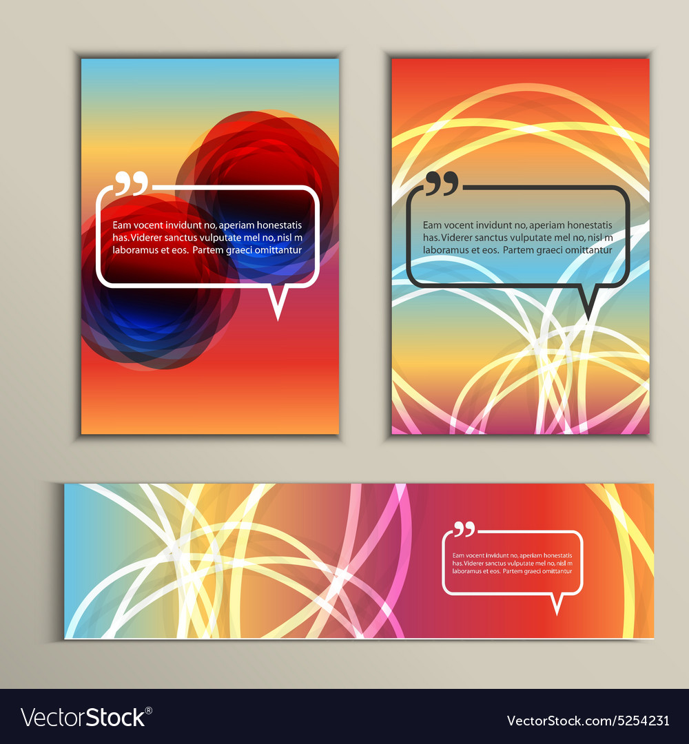 Set of color line banners for abstract design vector