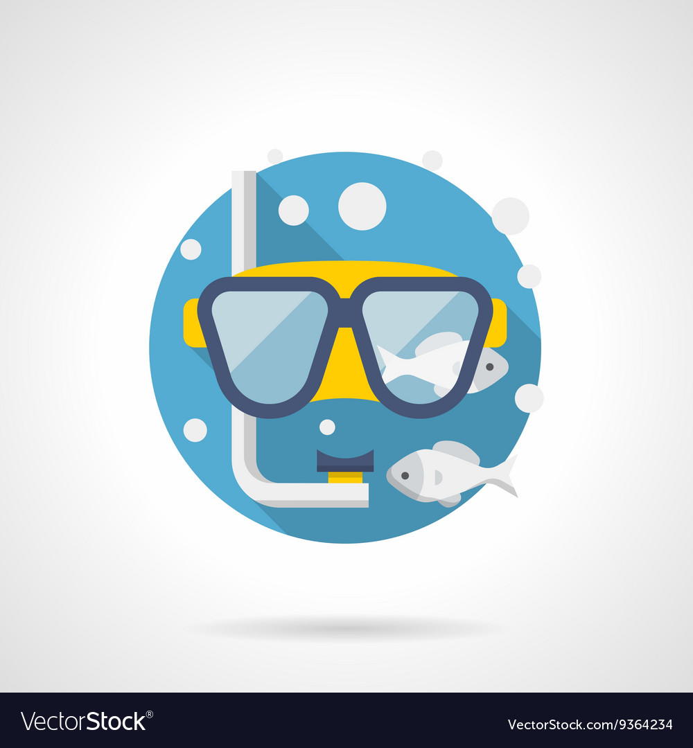 Diving accessory detailed color icon vector