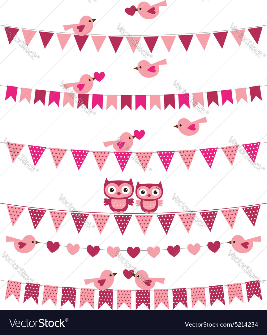 Love birds set vector