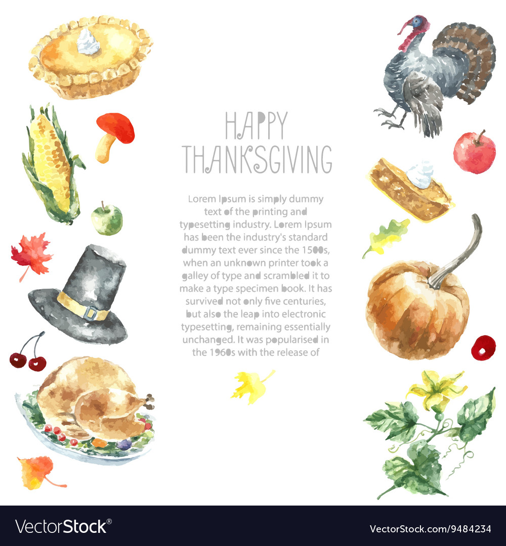 Thanksgiving day set vector