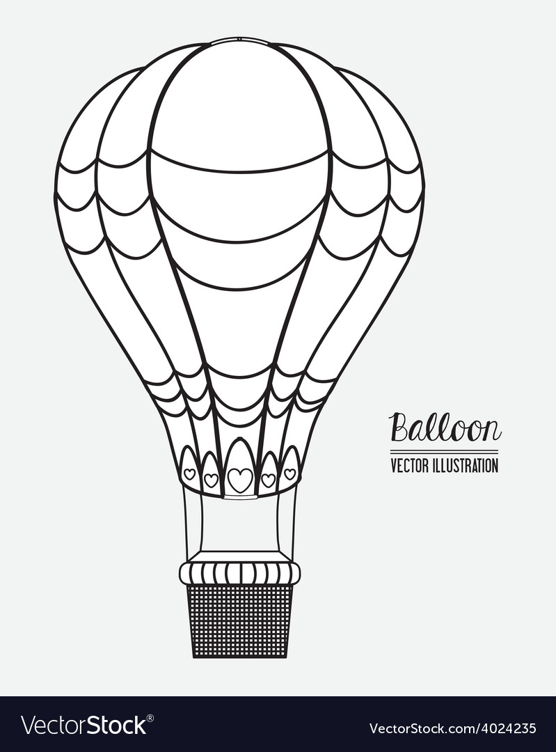 Air balloon desing vector