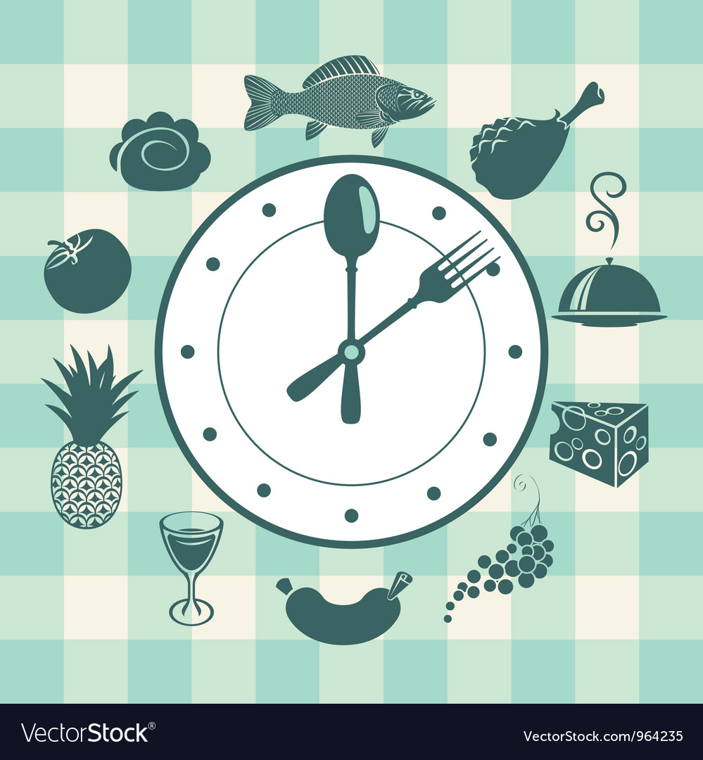 Watch food vector