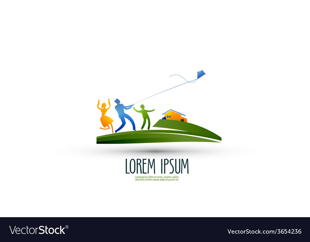 Family logo design template people or society icon vector