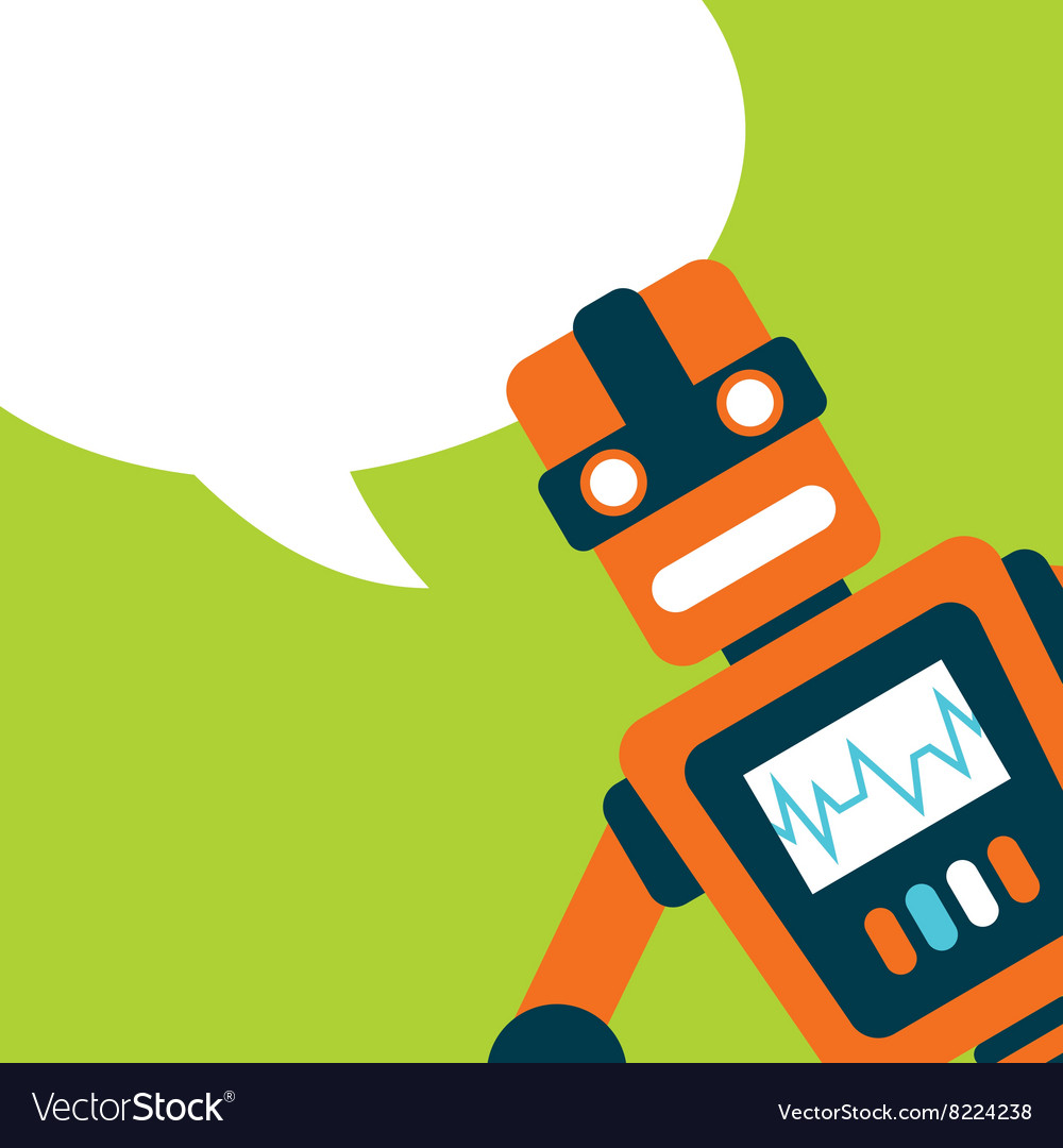 Card robot design vector