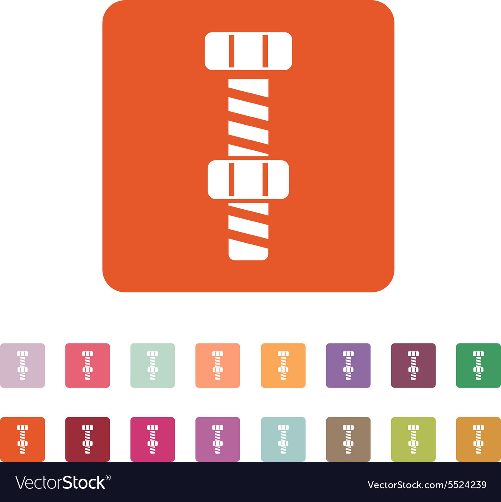 Bolt with nut stranded icon screw symbol vector