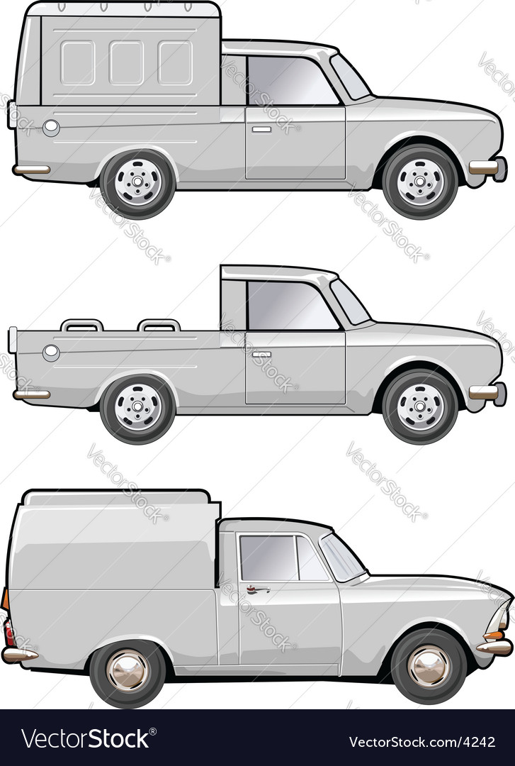 Modifications delivery car vector