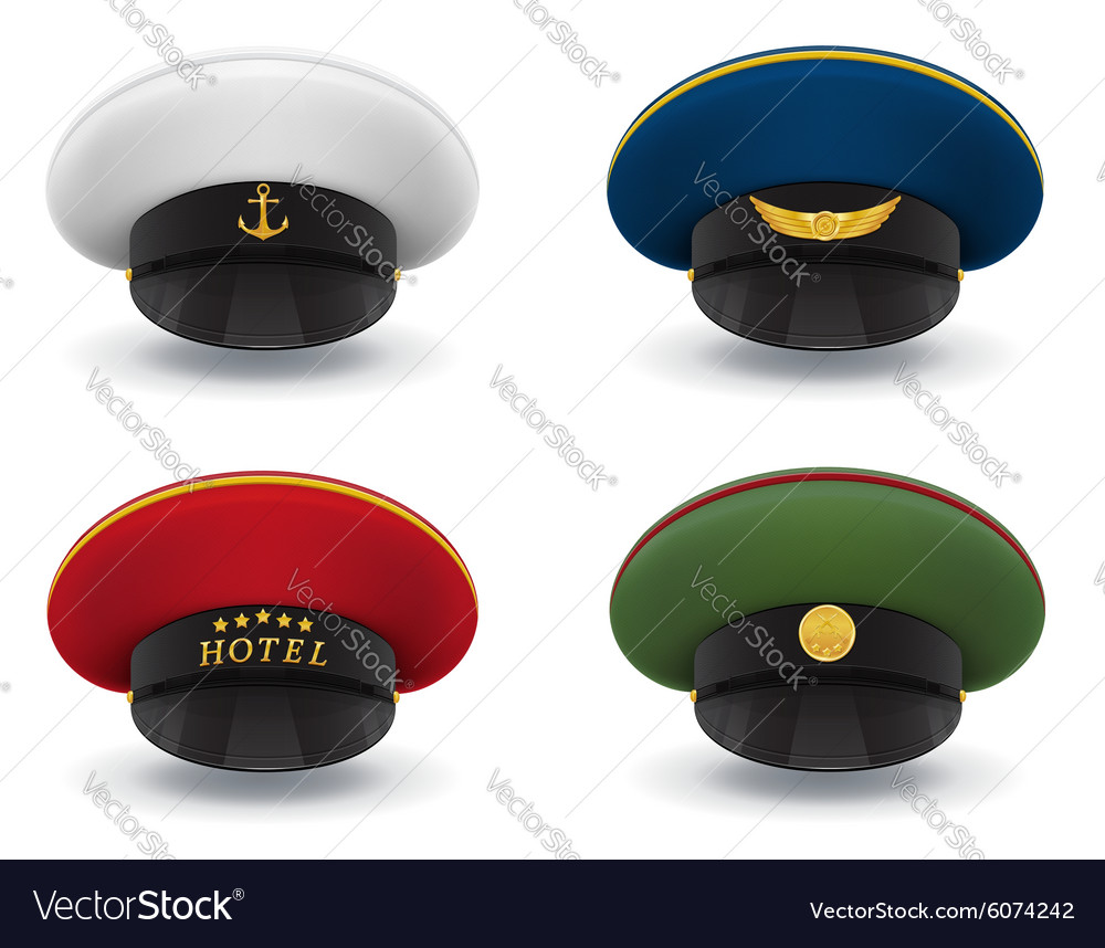 Professional uniform cap 05 vector