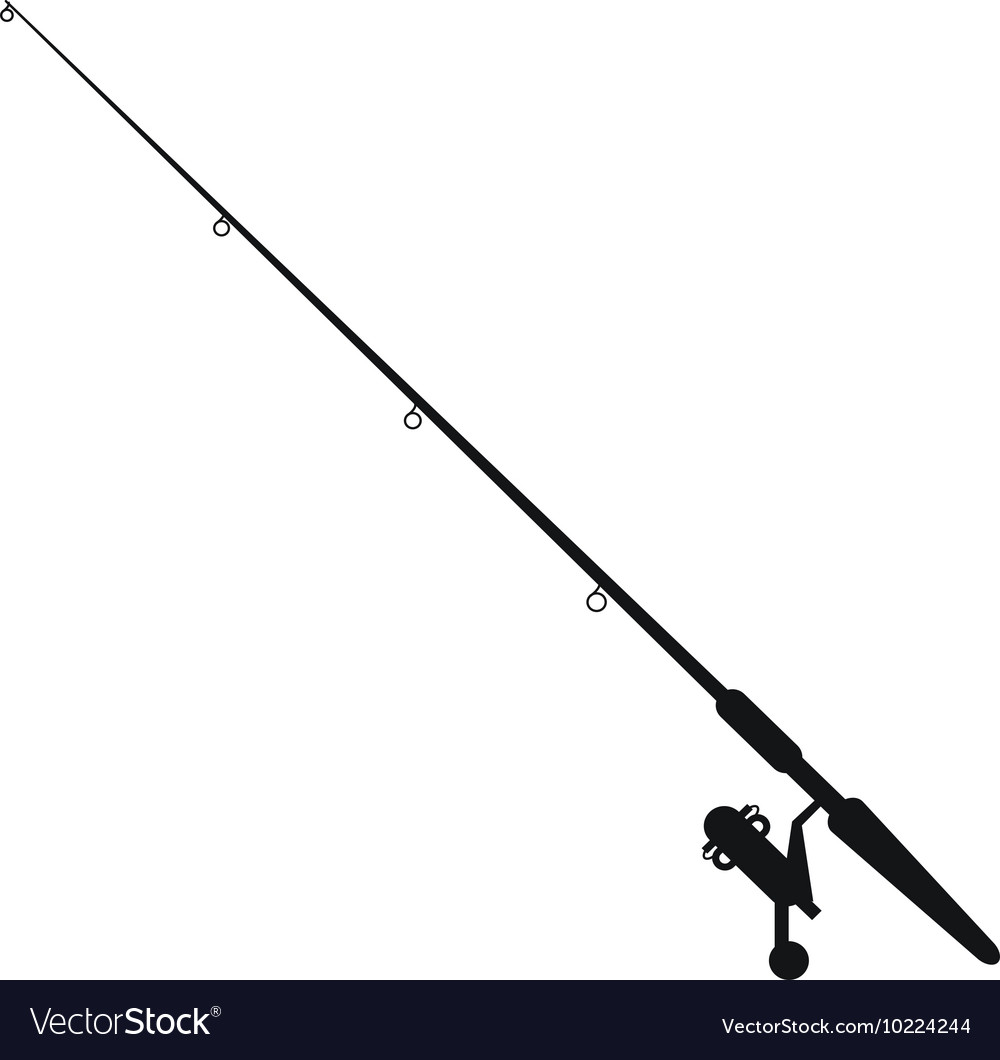 Fishing rod icon vector