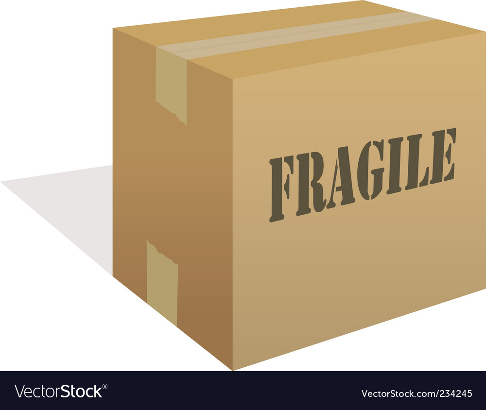 Fragile box vector