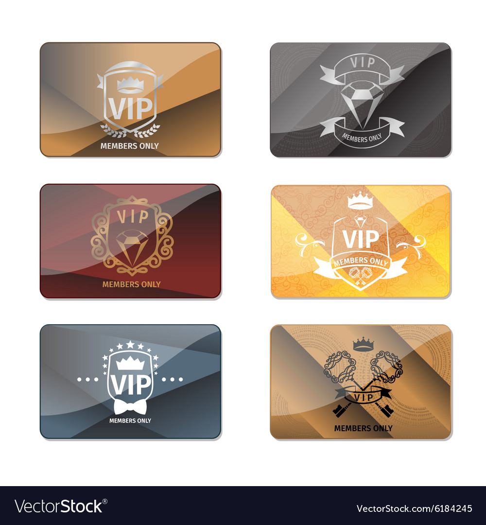 Vip club members only premium cards set vector