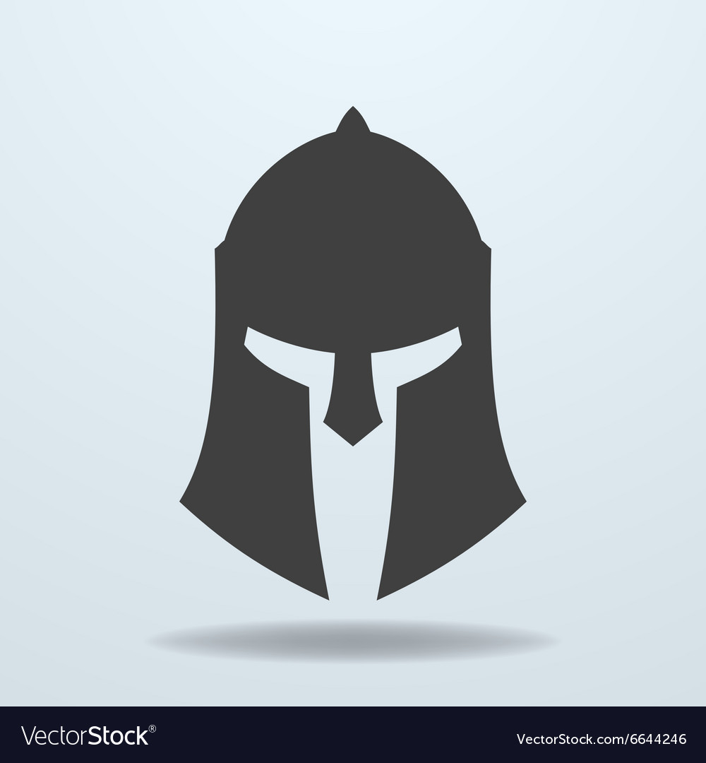 Icon of ancient greek roman spartan helmet vector