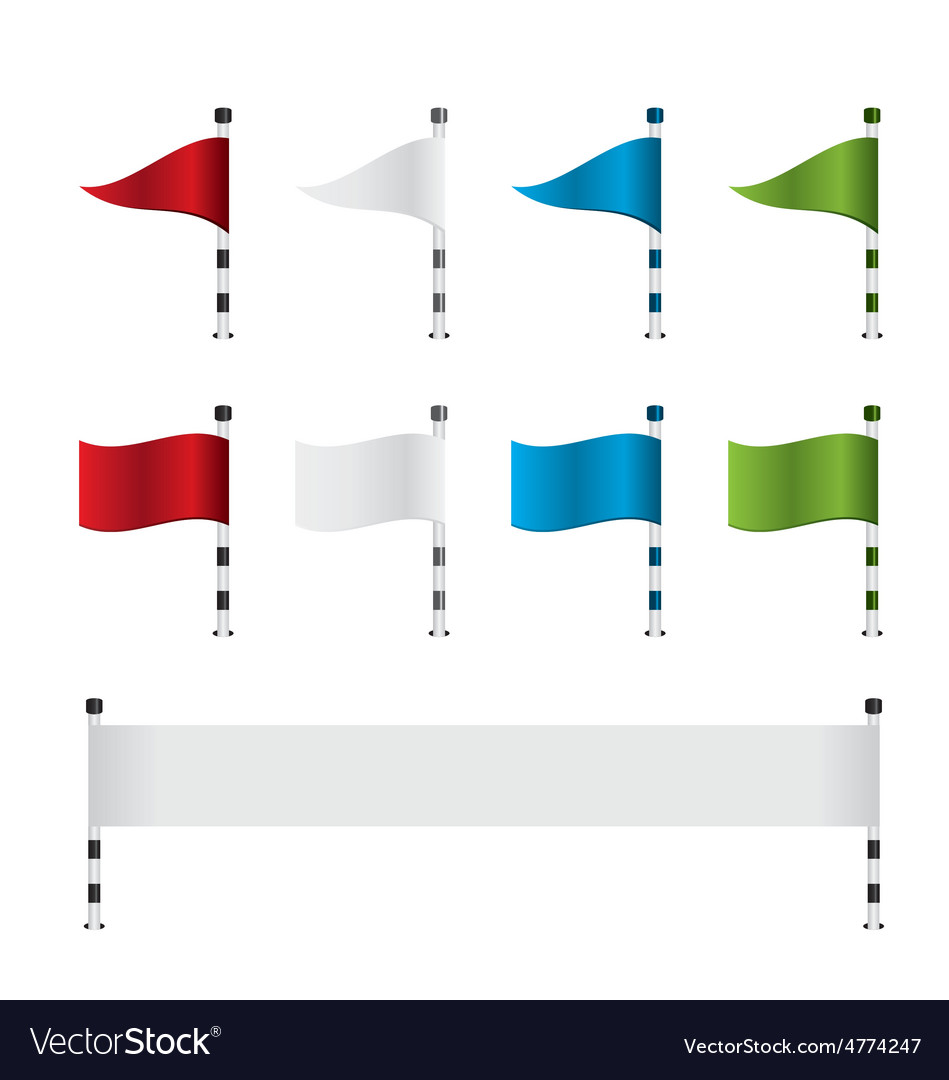 Golf flag and banner set vector