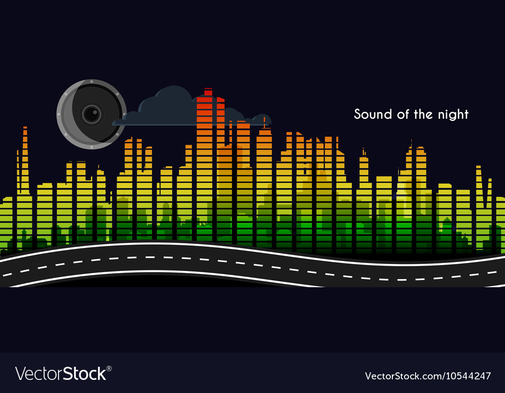 Sound of the night vector
