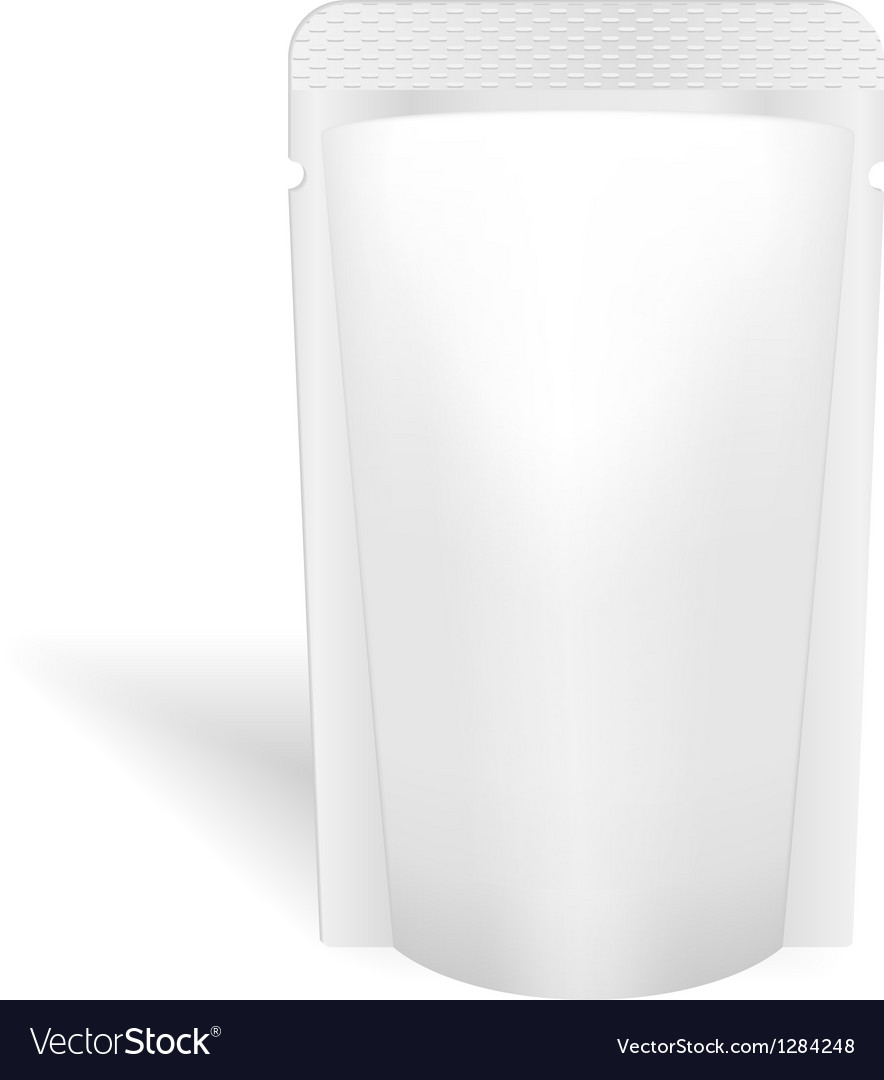 Blank white bag packaging for liquids drink or vector
