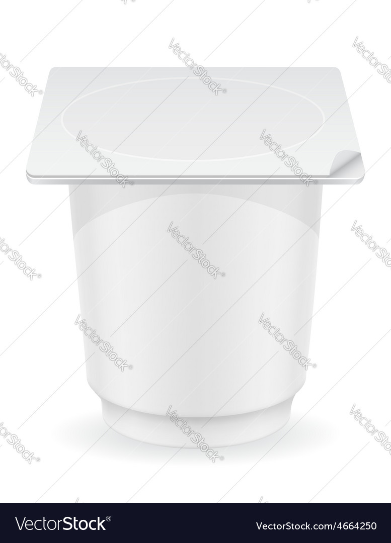 Plastic container of yogurt 02 vector