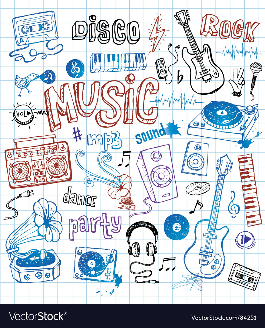 Sketchy music s vector