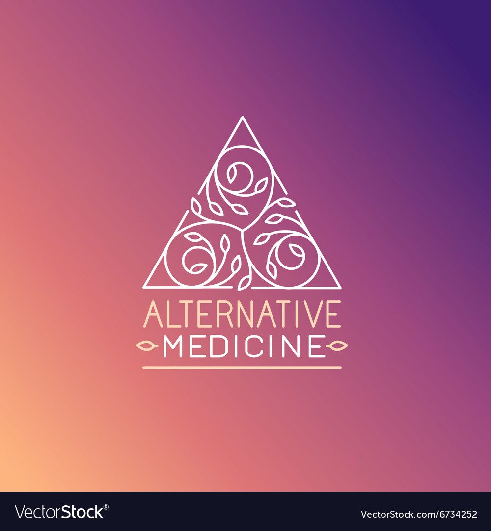 Alternative medicine logo design template vector