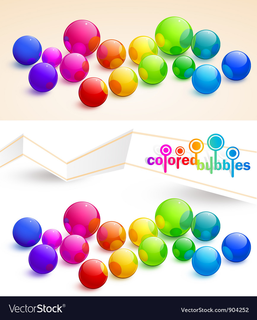 Colored bubbles vector
