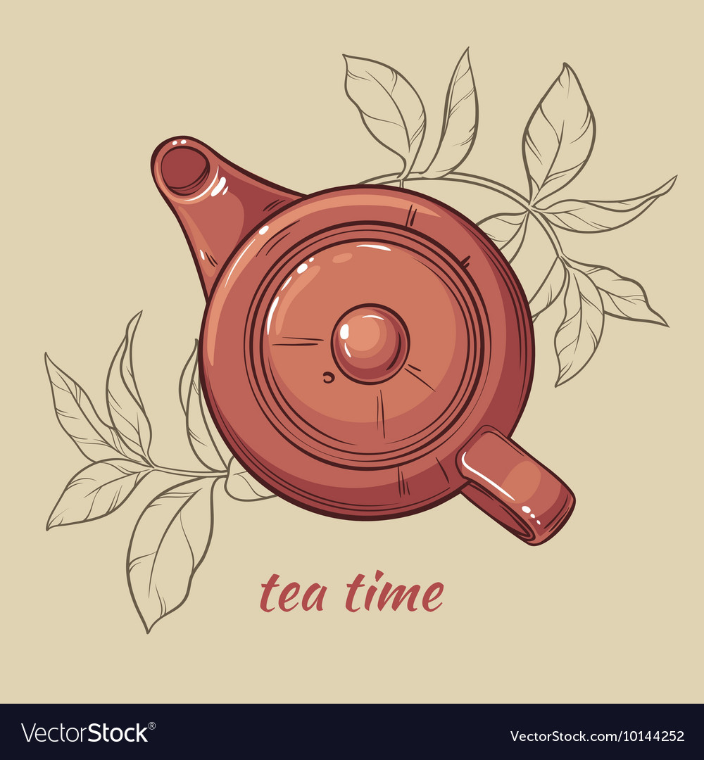 Teapot brown vector