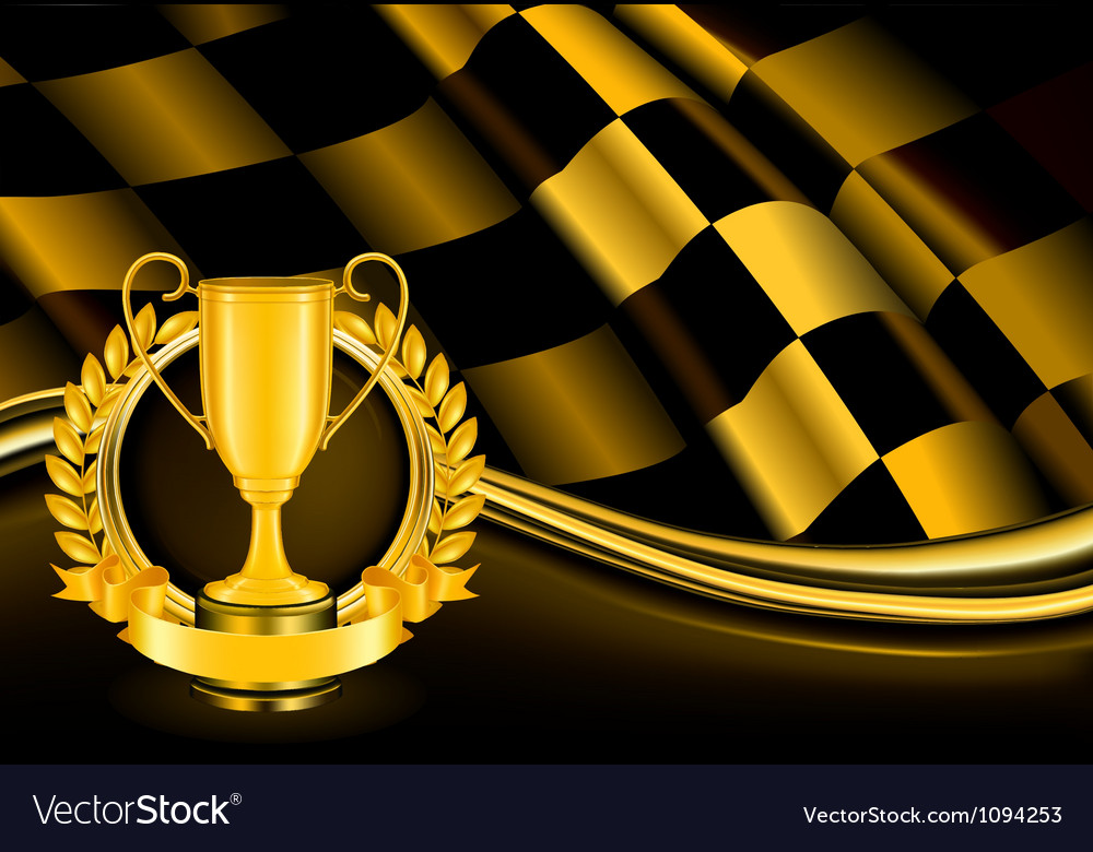 Champion background vector
