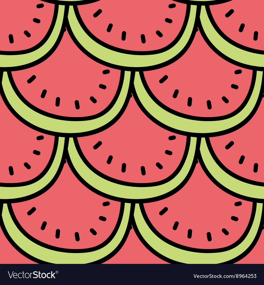 Seamless summer background hand drawn pattern vector