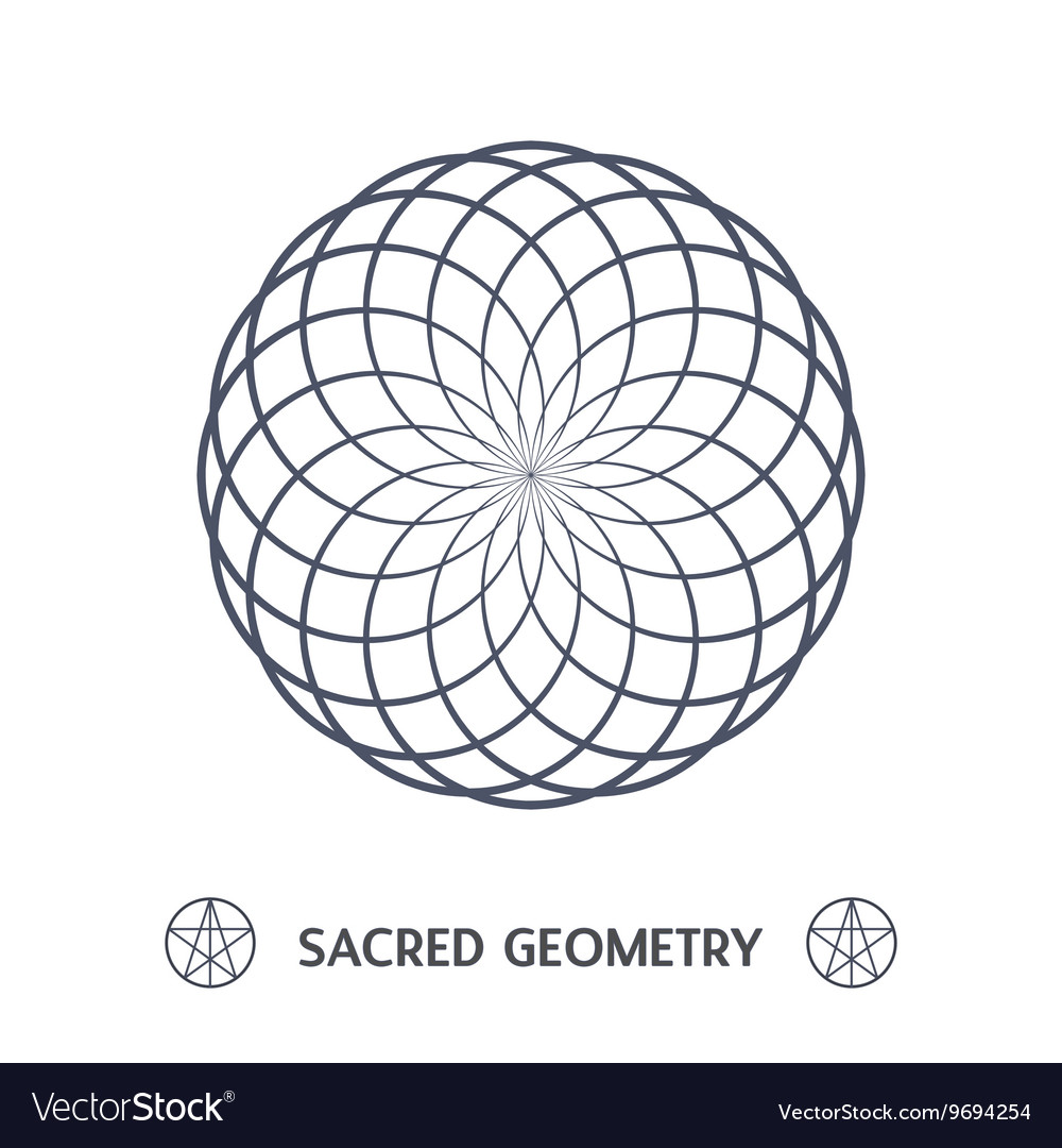 Sacred geometry symbol vector
