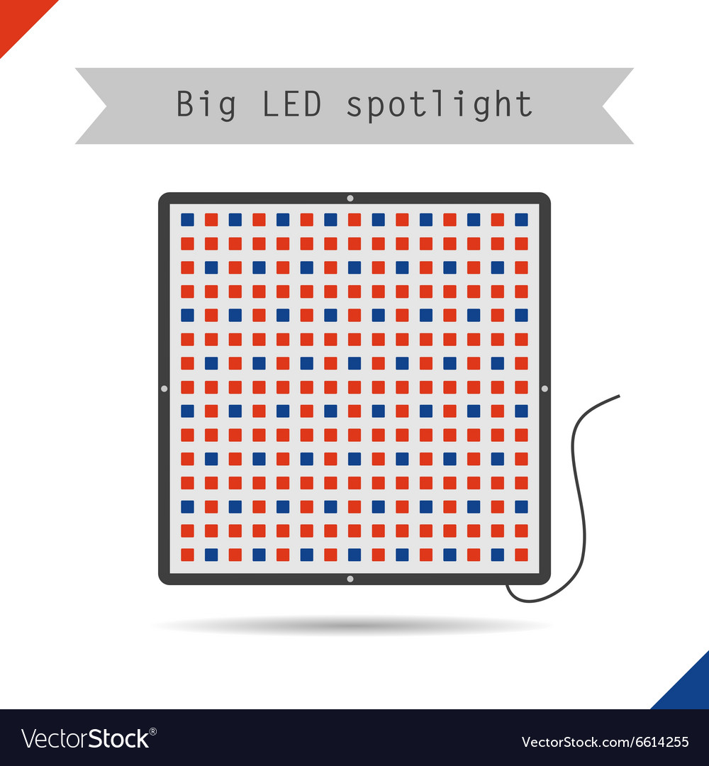 Icon big led spotlight for plants vector