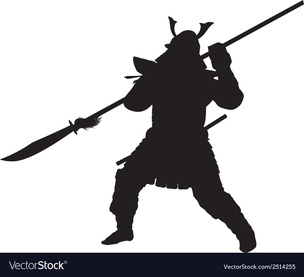 Samurai warriors theme vector