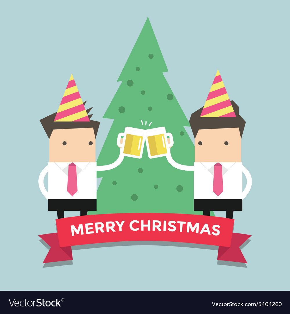 Merry chirstmas businessmen vector