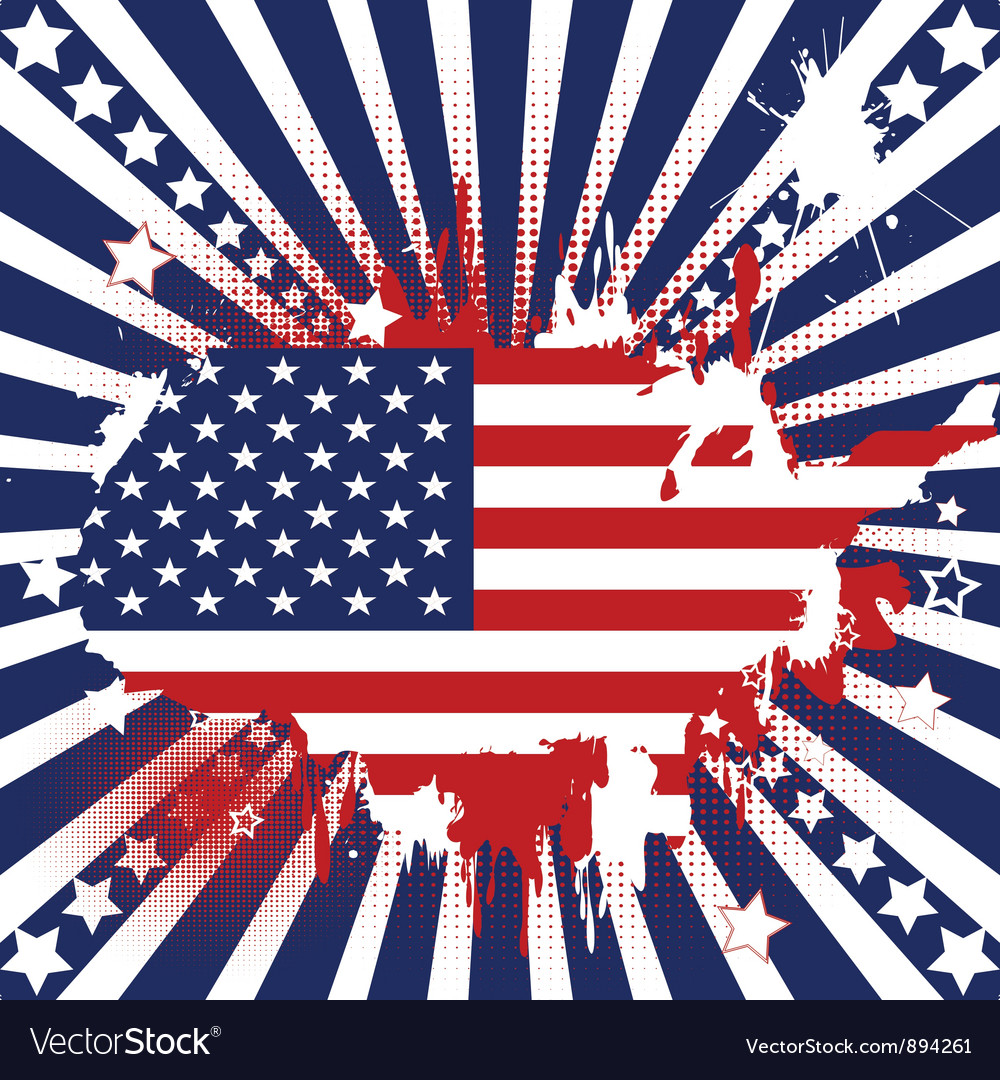 American theme background vector