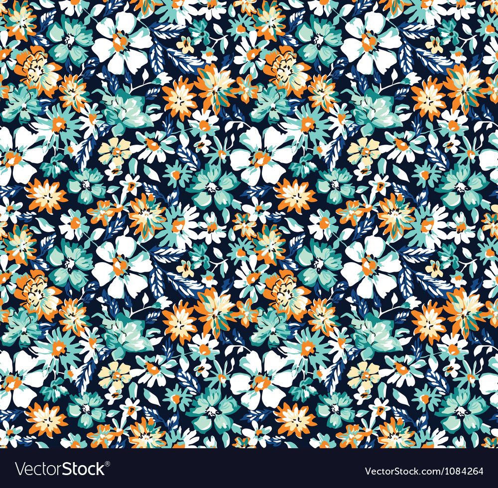 Ditsy blue seamless background vector