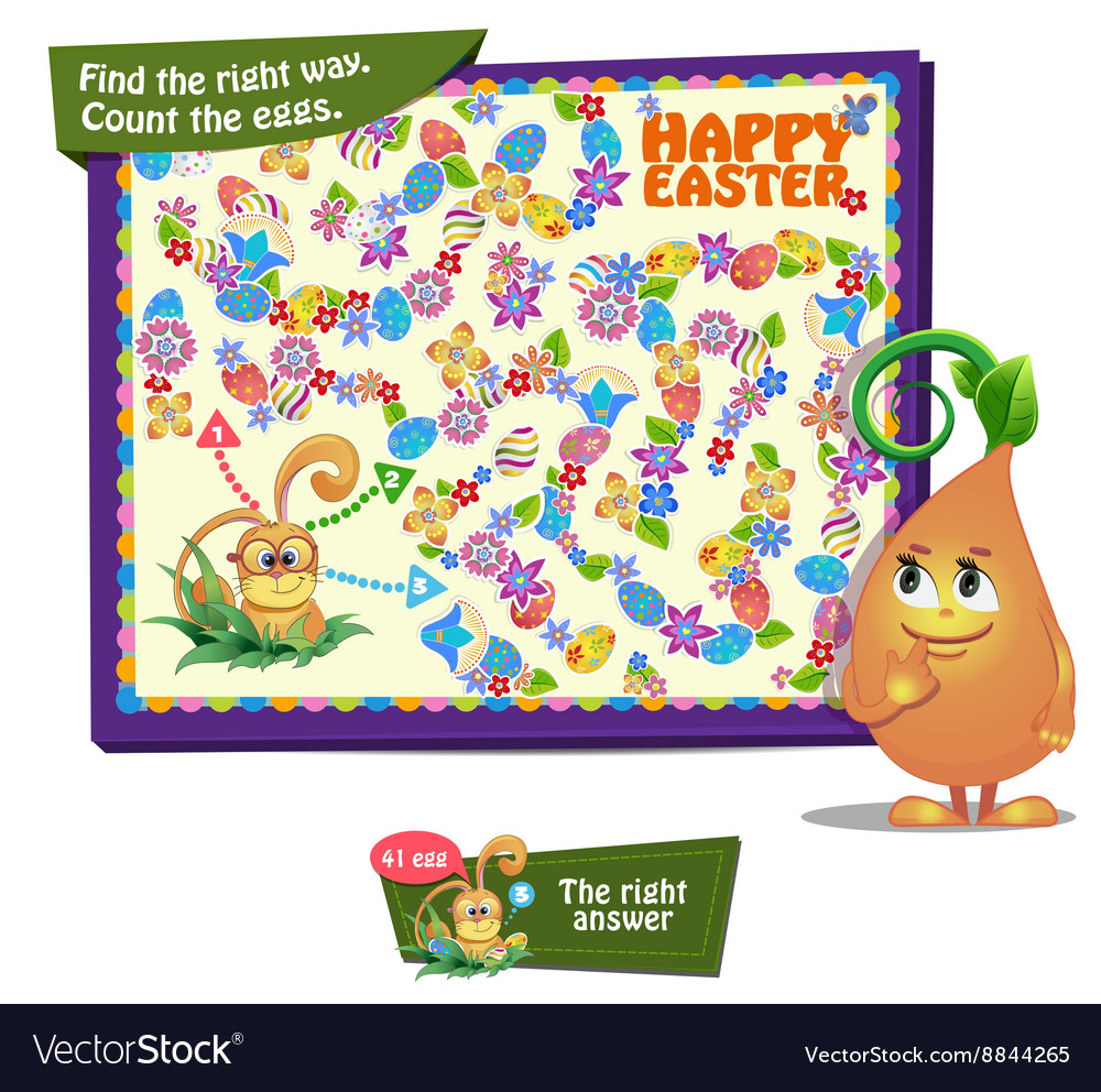Count the easter eggs vector