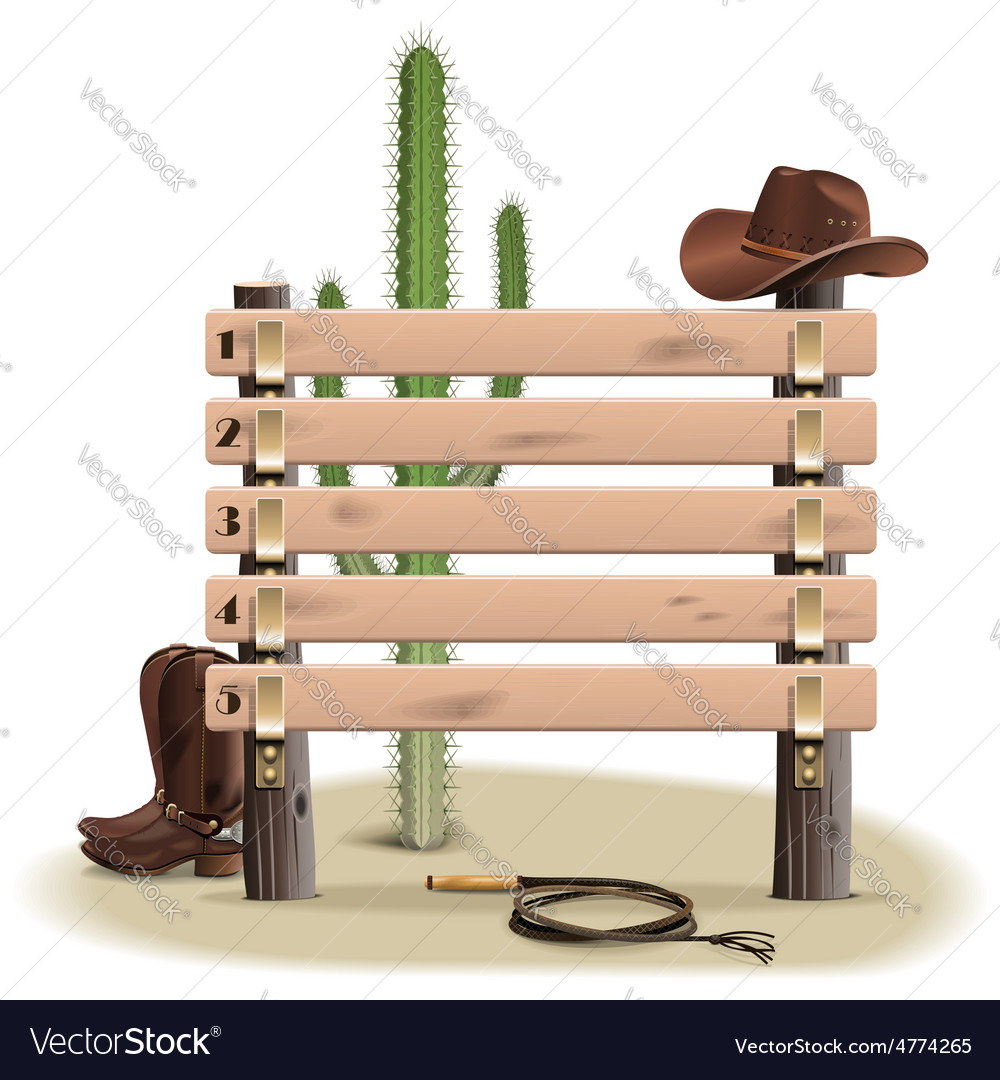 Cowboy rating scoreboard vector