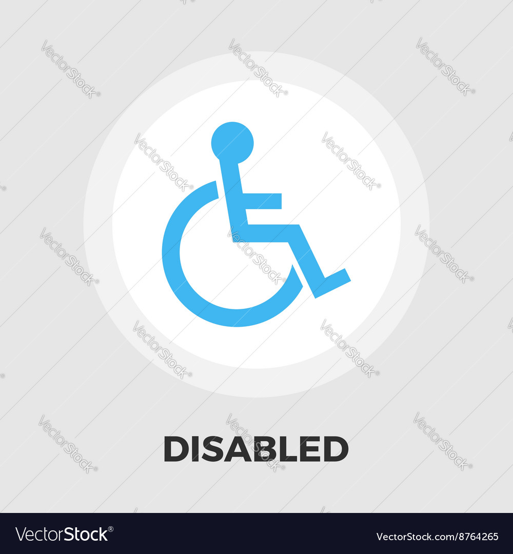 Disabled flat icon vector