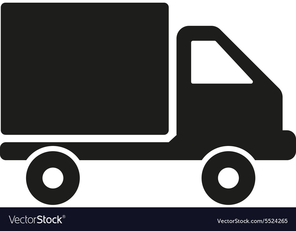 Truck icon delivery and shipping symbol flat vector