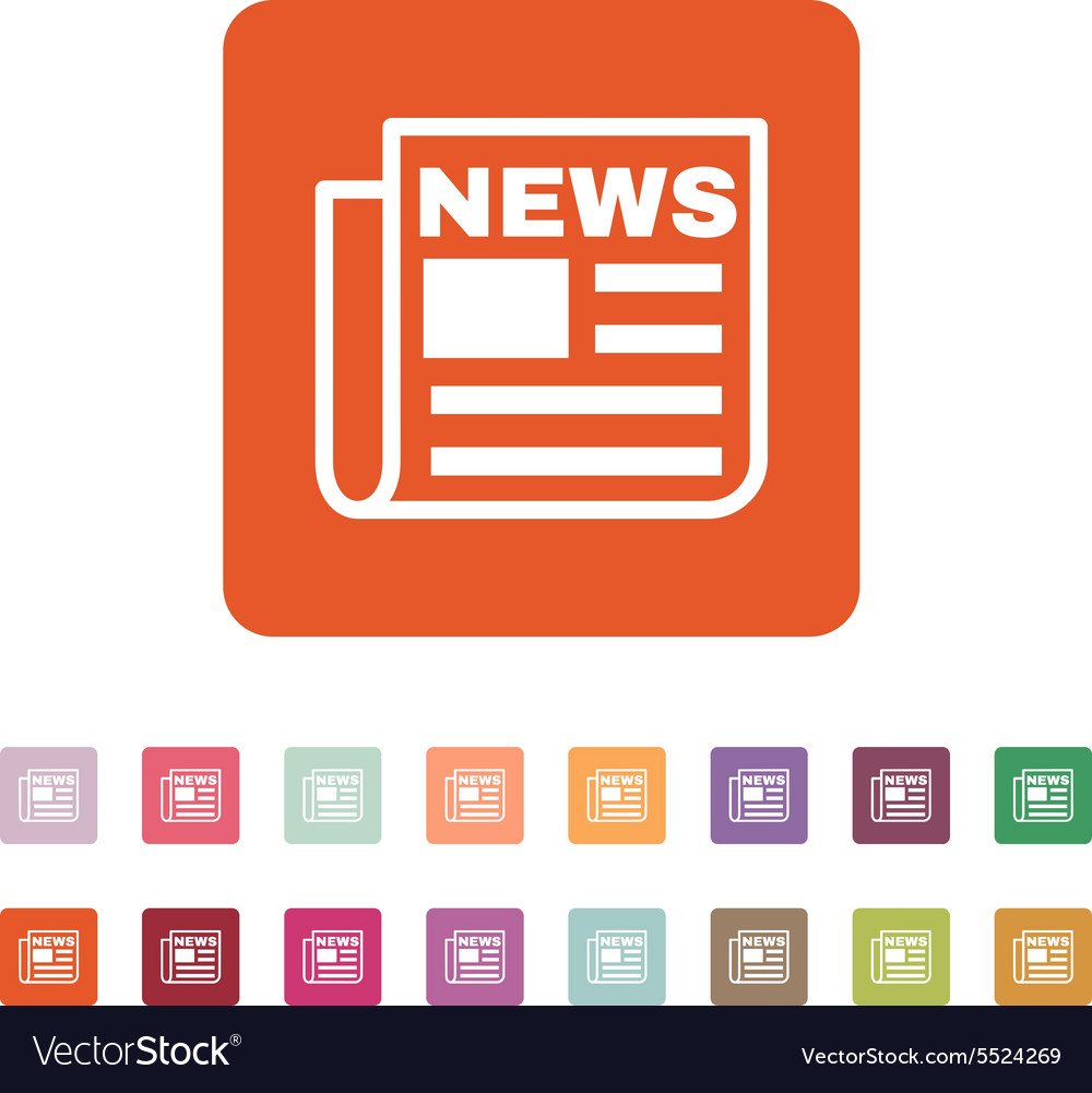 News icon newspaper symbol flat vector