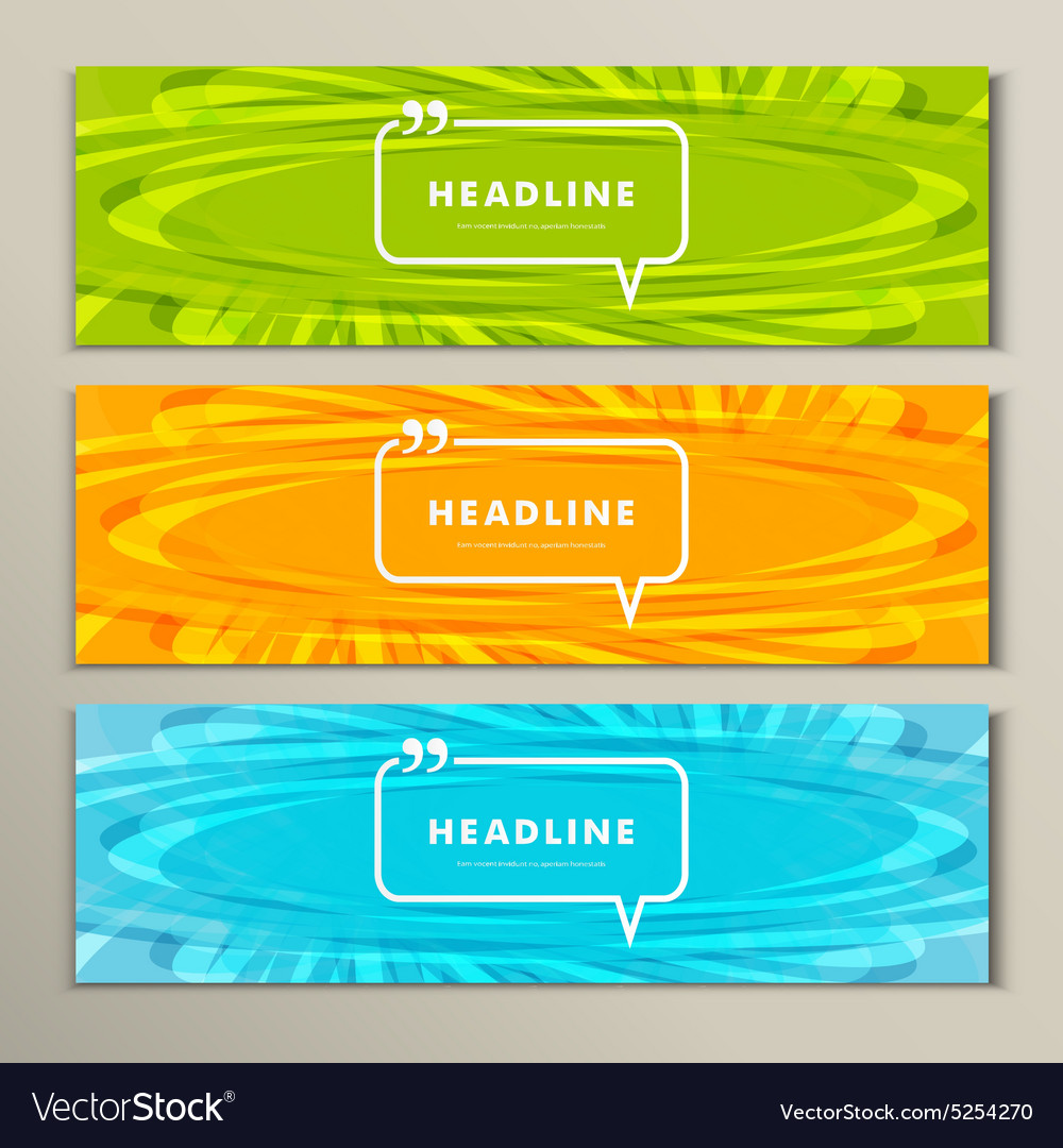 Set of banners for design in abstract style vector