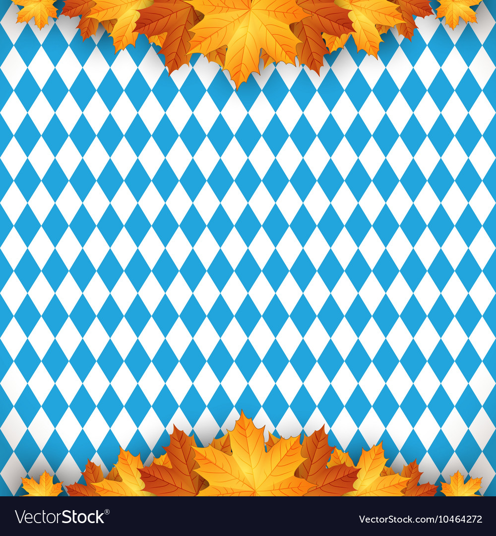 Oktoberfest design autumn blue background b vector