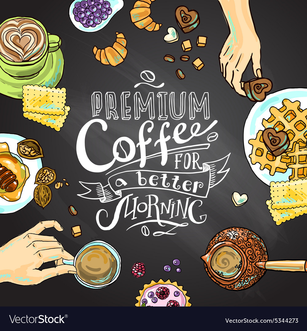 Cofee background vector