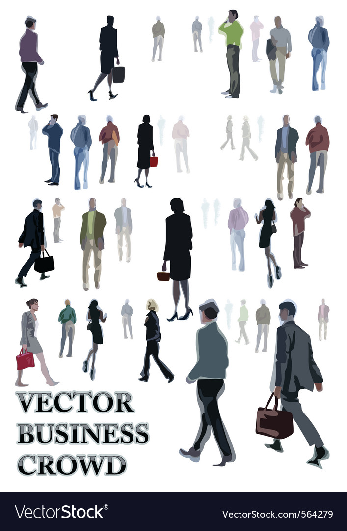 Abstract people sketches vector