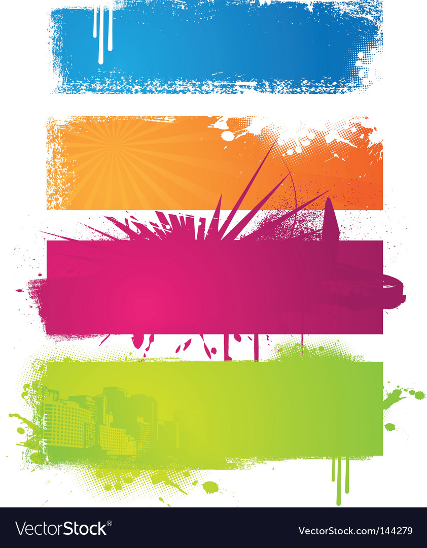 Set of colored banners vector
