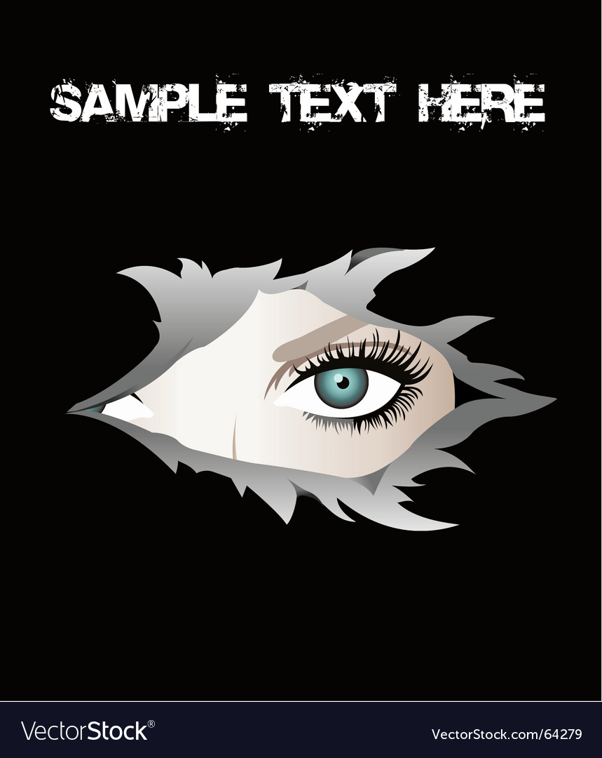 Torn eye vector