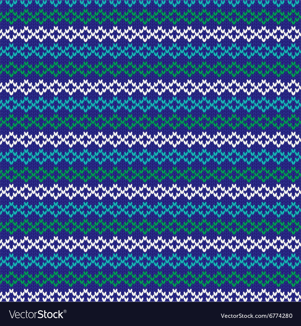 Knit nordic stripe vector