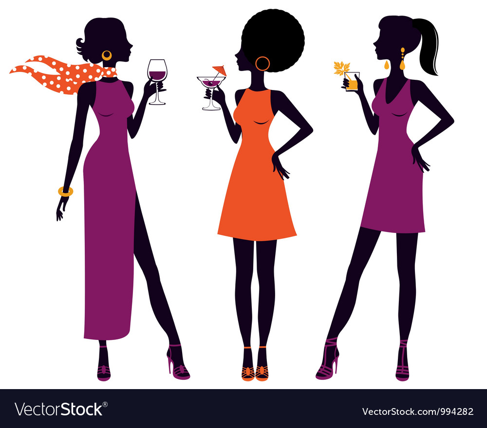 Elegant cocktail party vector